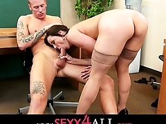 Kendra Lust have some nice cock suking in her election with an employee