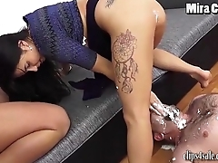 MIRA CUCKOLD - CUCKOLD EATS CREAM Revel in MISTRESS MIRA'_S ASS!