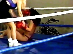 Sweetheart Wrestling SHR-31 Bloody Four-sided - Mistress Leeann vs Danielle