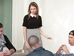 Spunk faced teen fucked