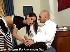 French Live-in lover Rachel Evans Drains A Cock
