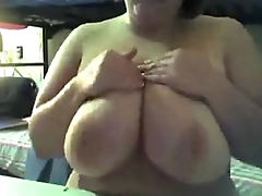 Lord it over BBW Camgirl Playing with her Big Amazing Tits