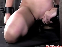 Bound redhead clamped during nt by maledom
