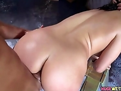 Pawg Taking Two Big Cocks In Her Ass - Abella Danger
