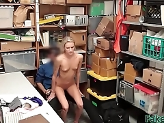 Slim blonde babe exposed her butterfly leg tattoo and gaping pussy