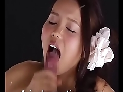 Asian Girl Takes A Huge Cumshot