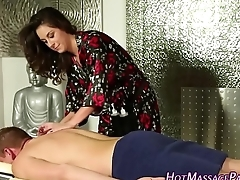 Lingerie masseuse blows