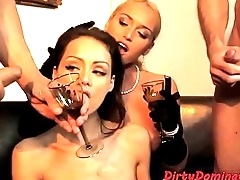 Glam eurobabe doublepenetrated and dominated