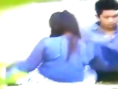 North Eastern Indian kinky couple enjoy outdoor sex in park.MP4