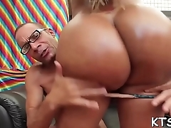 Tranny cowgirl cant live without ass fucking