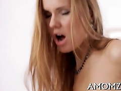 Hot mommy is fingered and screwed