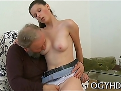 Sweet young beauty licked by pold boy