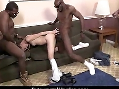 White girl convinced to swallow cum from black cock 5