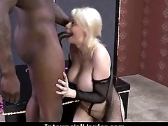 White girl convinced to swallow cum from dark cock 1