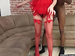 Natasha Juja sucks a BBC in front of her stepson