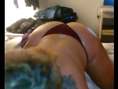 Big booty MILF deepthroats and rides big dick hot Bf