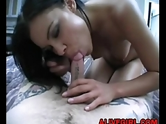 Young babe Ruby Knox loves sucking tattooed cock ALIVEGIRL