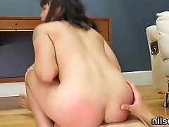 Slutty nympho is brought in ass hole madhouse for harsh therapy