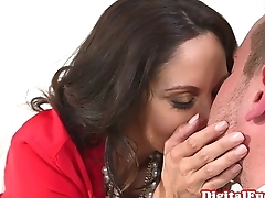 Busty lawyer cumshowered by assistant