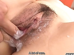 Asian maid gotten fucked by the randy big cock dudes
