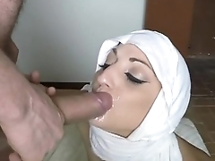 Arab Teen In Head Scarf Fucked Doggystyle And Facial