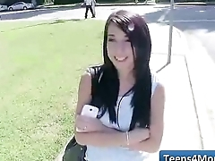 Teens Love Money fucked in open Public - www.Teens4Money.com video 16