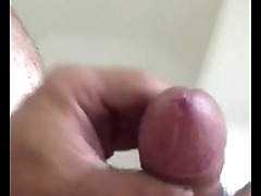 pre cum from edging my big cock
