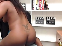 A naughty young black girl Charlie Rae who loves to show off