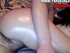 Close-fisted pussy in webcam squirt dildo fuck and deepthroat