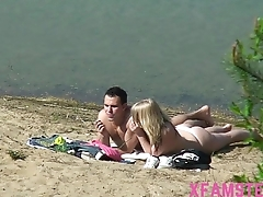 Beach fucking lay teen stepsister nice ass with small tits outdoor