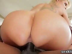 Pornstar model gets her ass hole pounded with stiff penis