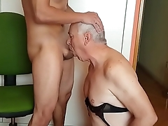 Daddy Face Fucked By Escort Boy