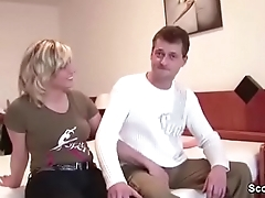 German Mom and Dad approximately First Time porn Movie for Money