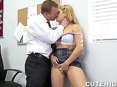 Sultry Lea Lexis Sucking Dick and Fucked