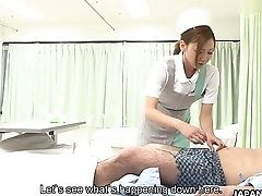 Nurse lose concentration will revive him with a cock suck
