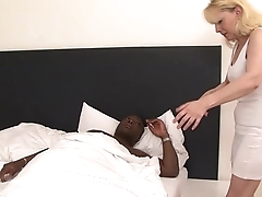 Granny caught secret interracial sex tape she gets fucked