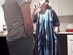 Fighting in the kitchen ends with fucking