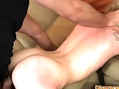 Disgraced babe banged and facialized