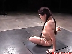 Bound flexible sub tied by maledom