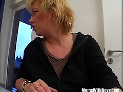 Mature Blonde Sucking Her Guest'_s Hard Cock