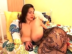 Natural Busty Goddess Smokes And Plays On Cam - CamYamps.com