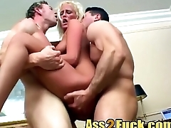 Expert blonde hooker surprise big cock threesome