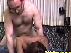 Ethnic retro newbie analfucked hard by old dude