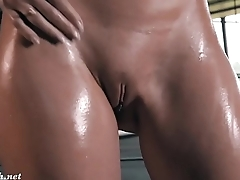 Jeny Smith Oiling Her Naked Body in a Public Parking - FREE @ www.WebCummers.com