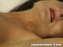 Two milf lesbian uncompromisingly mature fingering wet pussies and fucking them hot cunts