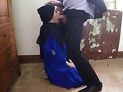 Arab Teen Hooker On Will not hear of Knees Sucking Dick Point Of View