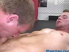 Ripped jock assfucked apart from trainer