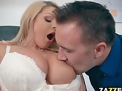 Ms. Chase was willing to allow Mr. Lee to feed his cock between her big tits