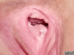 Wicked czech nympho stretches her spread twat to burnish apply special