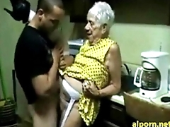 Superannuated Granny gets fucked by